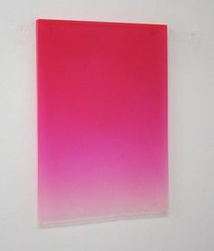 Pink Drip, 2011, Polyester Resin, 25 x 17 3/4 x 1 1/4""