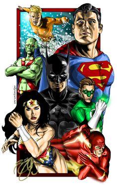 Justice League of America by odysseyart.deviantart.com on @deviantART