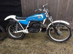 eBay: bultaco trials bike barn find project,rare 199b frame classic bike #motorcycles #biker