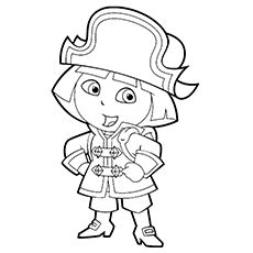 Pirate Coloring Pages - Dora The Pirate