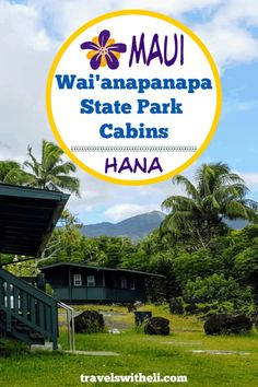 Wai'anapanapa State Park Cabins - Maui, Hawaii - Did you know that there is an affordable place to stay in Hana? Wai'anapanapa state park cabins are the perfect accommodations right in the state park in Hana, Hawaii. Hawaii Vacation Tips, Beach Vacations, Canada Travel, Travel Usa, Maui Hotels, State Park Cabins, Maui Travel, Travel Ideas, Travel Tips