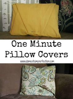 DIY How to Make No-Sew Pillows