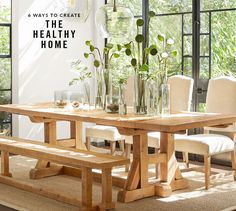 Need dining room inspiration? Shop Pottery Barn for stylish dining room ideas, furniture and decor. Create an elegant space perfect for entertaining friends and family. Buy Reclaimed Wood, Reclaimed Wood Furniture, Pottery Barn, Home Furniture, Outdoor Furniture Sets, Custom Rugs, Natural Rug, Indoor Outdoor Rugs, Recycled Glass