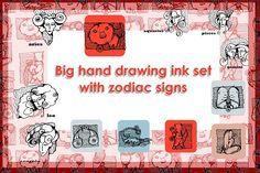 Zodiak signs.Japanese,Chinese zodiak by skvorka on @creativemarket