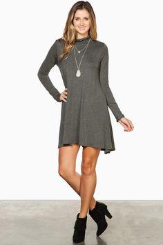 ShopSosie Style : Kaylee Dress in Grey