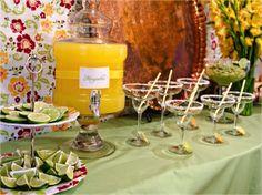 Margarita bar.. cute idea for wedding showers and receptions