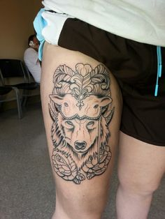 Wolf tattoo. Wolf in sheeps clothing