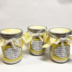 Yellow and White Pint Size Mason Jar Cookie Mix by FabRustic