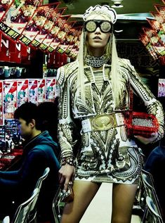 Extravagant Arcade Editorials Aline Weber is a Glamourous Gamer in Vogue Japan April 2012