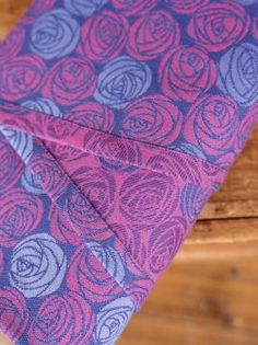 Roses Belle made in Scotland from organic combed cotton, Giza cotton and cashmere by Oscha Slings.