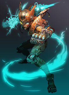 Zero, Mega Man series artwork by Ladic.