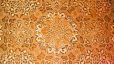 Alhambra Orange Texture Wallpaper Wide or HD | Digital Art Wallpapers