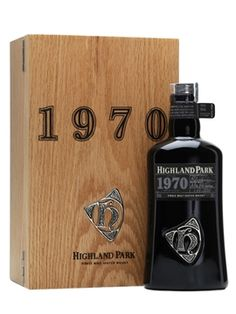 A whisky from Highland Park's impressive Orcadian Vintages range: a marriage of casks distilled in 1970. This continues the series' incredible presentation, with a heavy dark glass bottle and hand detailed wooden box.