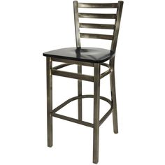 BFM Seating Lima Steel Bar Height Chair with Ash Wooden Seat and Clear Coat Frame Restaurant Bar Stools, 30 Bar Stools, Swivel Bar Stools, Compact Table And Chairs, Dining Room Table Chairs, Upholstered Dining Chairs, Dining Area, Commercial Bar Stools, Stool Chart