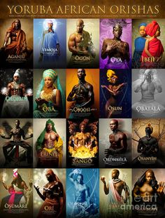 Pictures With All The Orishas | Orishas Poster Photograph by James C Lewis - Yoruba African Orishas ...