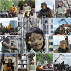 """""""Royal De Luxe"""" French Street Puppeteers.  I saw this when I went to Chile, it was amazing!"""