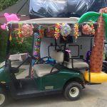 Hawaiian themed golf car decorations at Lake Rudolph.