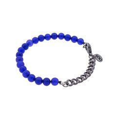 Pulseira Blue Bic - Combinação de Pedra com Corrente.