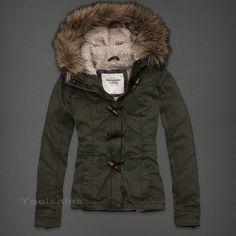 NWT Abercrombie Women's Coat Jacket Outerwear Hoody Sherpa Lined Fur Hood All Sz   eBay