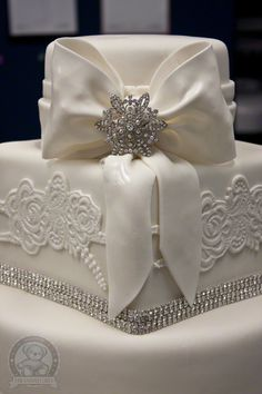 Image detail for -Fondant, Lace Wedding Cake – Gainesville | Dream Day Cakes