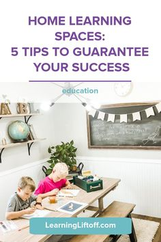 Back to school looks a little different this year. Make sure your home learning spaces make learning productive and fun with these 5 tips and inspirational examples! Home Learning, Learning Spaces, Fun Learning, Space Words, Learning Stations, Homework Station, Bright Homes, Student Success, Everyday Activities