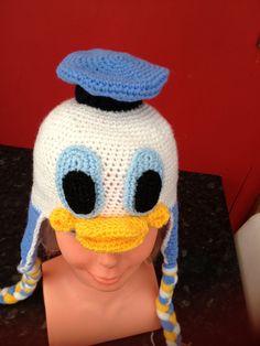 crochet character hat | CROCHET BABY CHARACTER HAT- DONALD DUCK | Charlie's hats MISI Handmade ...