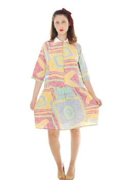 Retro Dress Old School Vintage Dress For Women 1960s by shpirulina