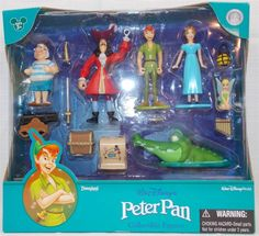 New in Collectibles, Disneyana, Contemporary (1968-Now) You are bidding on a New Disney Parks Peter Pan Figure Play Set Cake Toppers  Great to use as Cake Toppers  Comes brand new and never opened  This is a Disney Theme Parks Exclusive  Set Includes: 14 Pieces:  Peter Pan, Wendy, Captain Hook, Tinkerbell, Smee, Croc, Canon, Treasure Chest, Sword, Dagger, Spy Glass, Map, Lantern, and Music Pipe