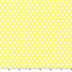 BY YARD-Kiss Dot Yellow Quilting Cotton Fabric Michael Miller CX5518-YELL-D #MichealMillerFabrics