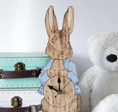 Peter Rabbit Clock Nursery Clocks Children's Clocks