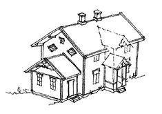 Tilbygg på gamle hus Modern Kitchen Design, Architecture, Inspiration, Garden, Houses, Arquitetura, Biblical Inspiration, Garten, Lawn And Garden