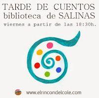 Tardes de cuentos todos los viernes en la biblio de Salinas, Castrillón (Asturias)