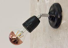 Plafond / Wandlamp Porselein Zwart E27 verstelbare arm | SameLight.eu Light Bulb, Sconces, Wall Lights, Lighting, Home Decor, Ceiling, Taps, Chandeliers, Appliques