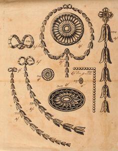Vintage Ephemera: decorative and ornamental. French decorative ornament 18th C.