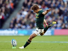 Tribute to my bae Pat Lambie for securing the match against the All Blacks tonight at Ellis Park! Best Rugby Player, Rugby Players, All Blacks, Rugby League, Sporty Girls, Real Men, Dream Job, Olympic Games, South Africa