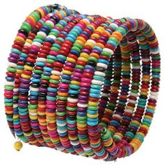 Slinky Bead Bracelet -- the fair trade bracelets are made of beads handmade from tree resin by Himalayan Artisans