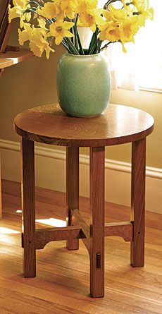 Arts & Crafts Side Table - A free woodwork project plan from Fine Woodworking Ma. - Arts & Crafts Side Table – A free woodwork project plan from Fine Woodworking Magazine - Woodworking Box, Woodworking Furniture, Woodworking Projects Plans, Woodworking Equipment, Woodworking Magazine, Woodworking Supplies, Popular Woodworking, Arts And Crafts Furniture, Diy Furniture