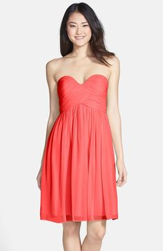 Donna Morgan 'Morgan' Strapless Silk Chiffon Dress | Nordstrom