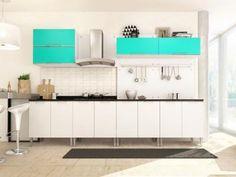 Cozinha Completa Líder Casa Aroma com Balcão - 3 Portas