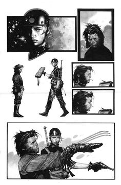 Wolverine & Zealot - Travis Charest  From X-men/WildCATS: The Golden Age crossover