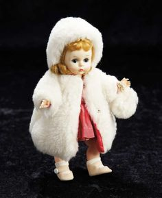 Alexander-kins in White Faux-Fur Coat and Hat,Circa 1958