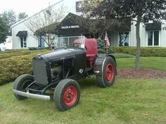"""Middlebury auto dealer Gardener Stone is proud of his highly collectible doodlebug, a vintage """"hybrid"""" tractor with a heritage dating back to the World War II era."""