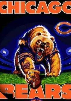 pics of chicago Bears football! Go Bears! Chicago Bears Quotes, Chicago Bears Tattoo, Chicago Bears Pictures, Chicago Bears Baby, Chicago Bears Wallpaper, Bear Wallpaper, Monster Party, White Sox Logo, C Bear