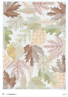 Gallery.ru / Фото #1 - Подушка с осенними листьями 1 - miamora