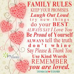 Family rules from #JoyofMom