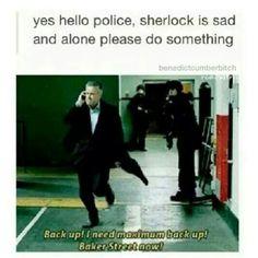 yes hello, police, Sherlock is sad and alone, please do something - The Sign of Three Sherlock Fandom, Sherlock Holmes, Rupert Graves, Vatican Cameos, Mrs Hudson, John Watson, Johnlock, Martin Freeman, Baker Street