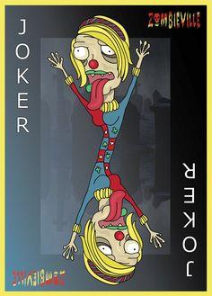 Joker playing card. Designed by Louis Blok