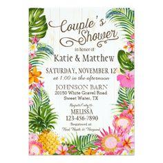 #invitations #wedding #bridalshower - #Luau Hawaiian Beach Rustic Couples Shower Card
