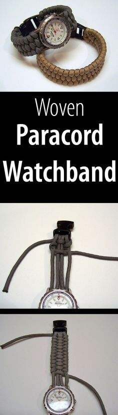Weave a paracord bracelet or watch band out of paracord! You'll need about 10' of paracord to complete this project.
