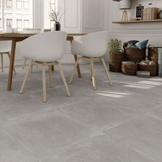 Opus Concrete Effect Fliesen Concrete Kitchen Floor, Grey Kitchen Tiles, Grey Floor Tiles, Grey Flooring, Concrete Floors, Kitchen Flooring, Modern Floor Tiles, Bar Kitchen, Kitchen Backsplash